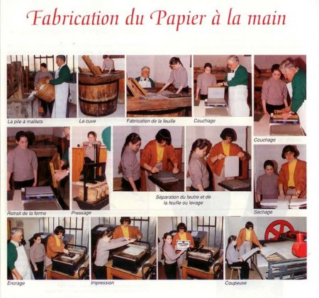 Fabrication du papier à la main
